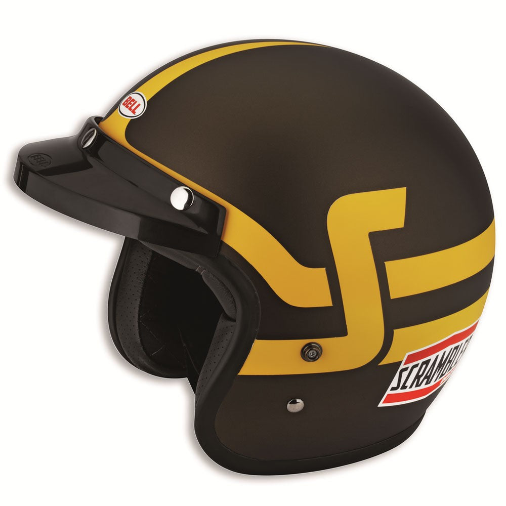 Ducati Scrambler Short Track Helmet - Brown/Yellow 98103085