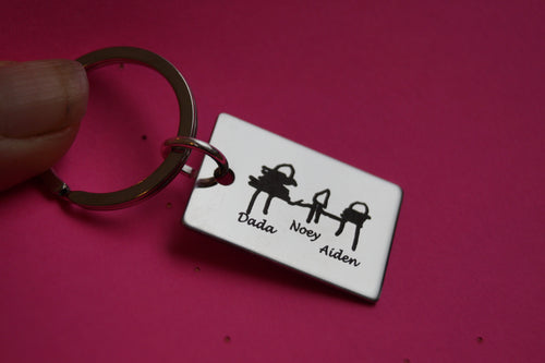 Personalized Handwriting key chain for Fathers Day | Mineovermatter Designs
