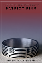 Load image into Gallery viewer, American flag ring, Patriot Ring | Mineovermatter Designs