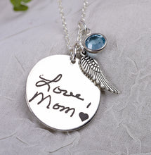 Load image into Gallery viewer, Custom engraved handwriting necklace | Mineovermatter Designs