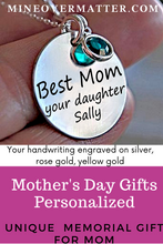 Load image into Gallery viewer, Copy of Personalized Mother's Day Gift from Daughter, Mother's Day Jewelry,