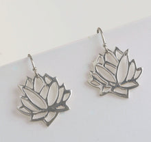 Load image into Gallery viewer, Lotus Flower Drop Earrings | Yoga Jewelry | Mineovermatter Designs