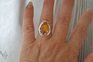 Baltic Amber Statement Ring | Mineovermatter Designs