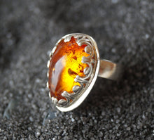 Load image into Gallery viewer, Baltic Amber Statement Ring | Mineovermatter Designs