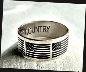 American flag ring, Patriot Ring | Mineovermatter Designs
