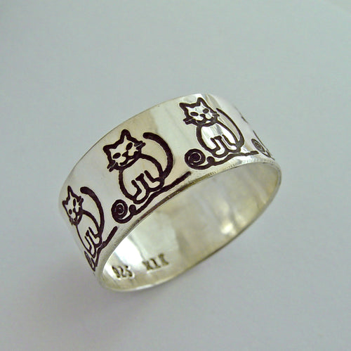 Cat Ring in Silver for Women