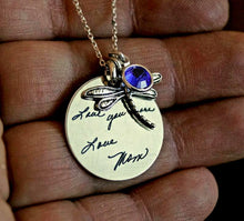 Load image into Gallery viewer, Personalized Dragonfly necklace | Mineovermatter Designs