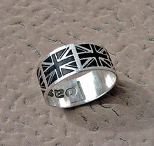 Load image into Gallery viewer, Personalized British Flag ring, Britain's patriotic flag band | Mineovermatter Designs