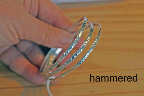 Stackable bangle bracelets