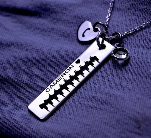 Personalized heart beat necklace | Mineovermatter Designs