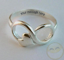 Load image into Gallery viewer, Infinity Heart ring - Delicate rings | Mineovernmatter Designs
