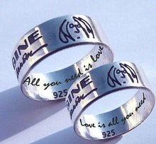 Load image into Gallery viewer, Couples rings, John Lennon, Imagine Ring | Mineovermatter Designs