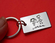 Load image into Gallery viewer, Personalized Handwriting key chain | Mineovermatter Designs