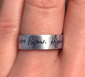 Memorial Handwriting jewelry | Mineovermatter Designs