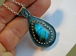 Labradorite necklace | Mineovermatter Designs