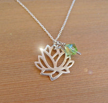 Load image into Gallery viewer, Lotus Flower Silver Necklace | Mineovermatter Designs