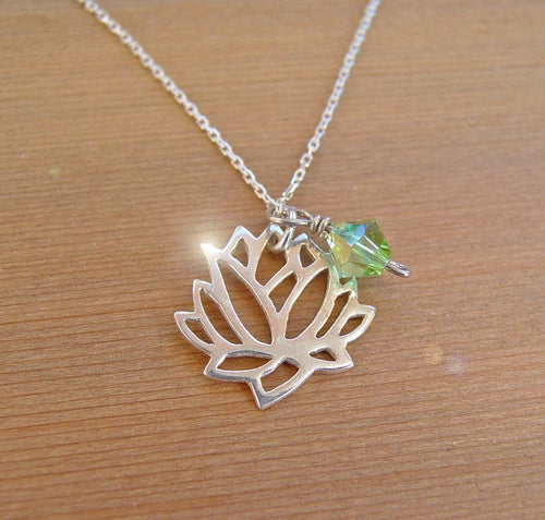 Lotus Flower Silver Necklace | Mineovermatter Designs