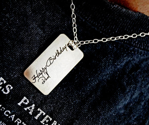 Fathers Day Gift, Men's Personalized Necklace | Mineovermatter Designs