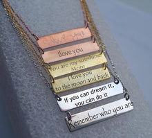 Load image into Gallery viewer, Initial Bar Necklace | Mineovermatter Designs