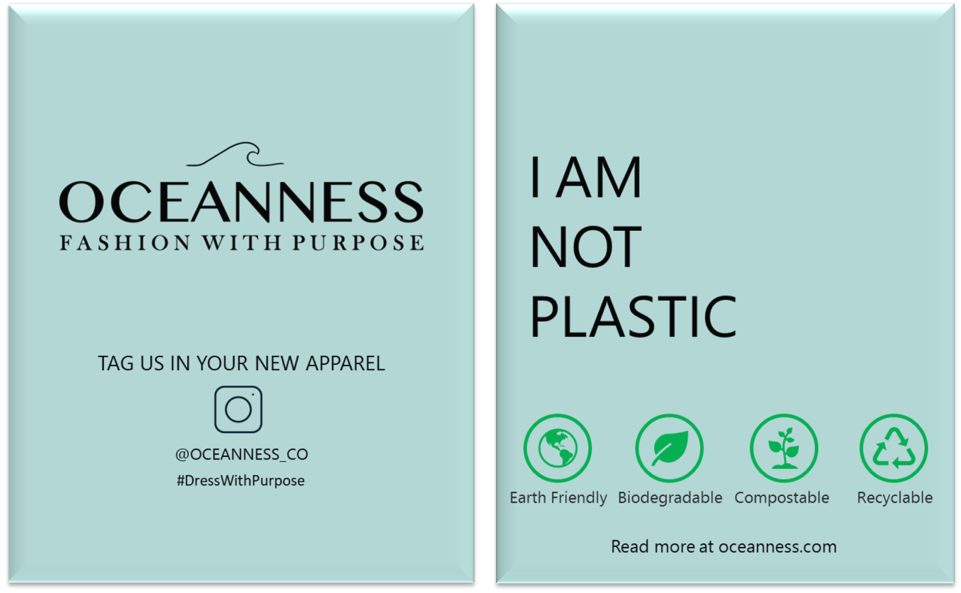 Oceanness compostable and biodegradable mailing bag