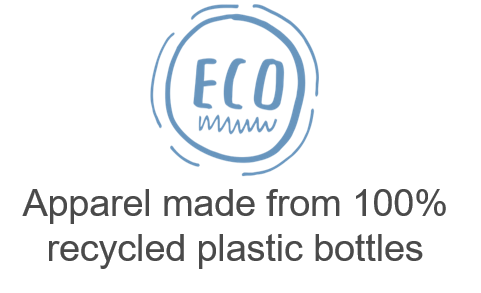 Tees made form 100% recycled plastic bottles