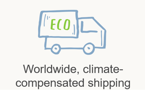 Worldwide, climate-compensated shipping