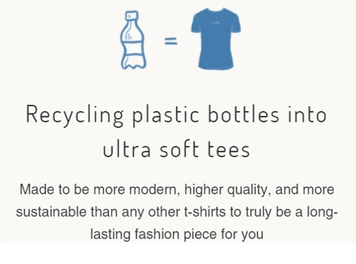 Recycling plastic bottles into ultra soft tees