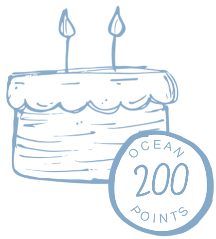 200 Ocean Points for birthday icon