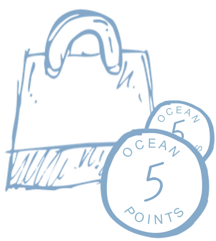 5 Ocean Points for every $1 spent