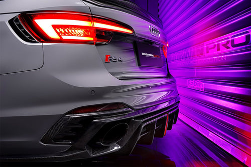 DarwinPRO 2018-UP Audi RS4 B9 BKSS Style Rear Diffuser w/ Caps