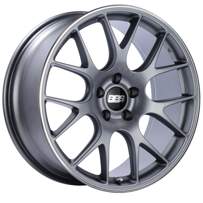 BBS CH-R 20x9 5x120 ET29 Satin Titanium Polished Rim Protector Wheel -82mm PFS/Clip Required