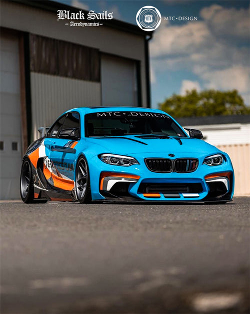 DarwinPRO MTC Black Sails wide body kit for 16-20 BMW F87 M2