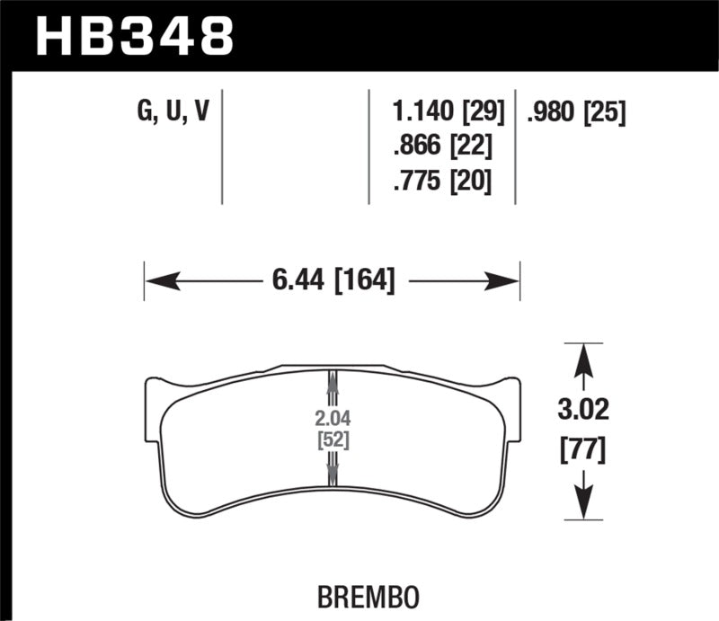 Hawk Brembo Disc DTC-70 w/.0866 Thickness Race Brake Pads