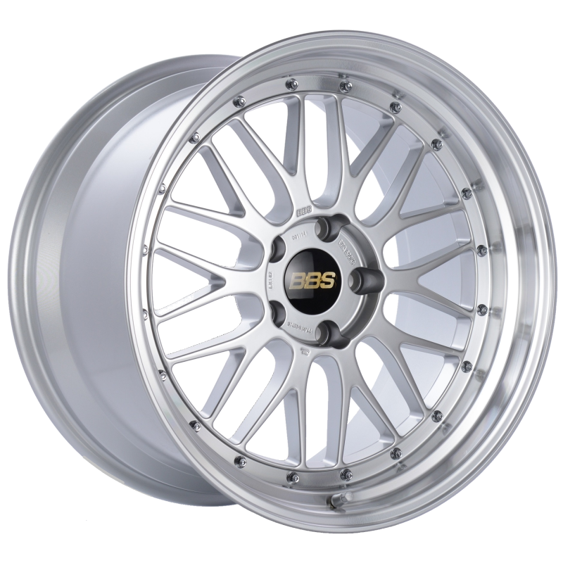 BBS LM 19x11 5x120 ET25 Diamond Silver Center Diamond Cut Lip Wheel -82mm PFS/Clip Required