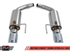 AWE Touring Edition Axle-back Exhaust for S550 Mustang EcoBoost - Diamond Black Tips
