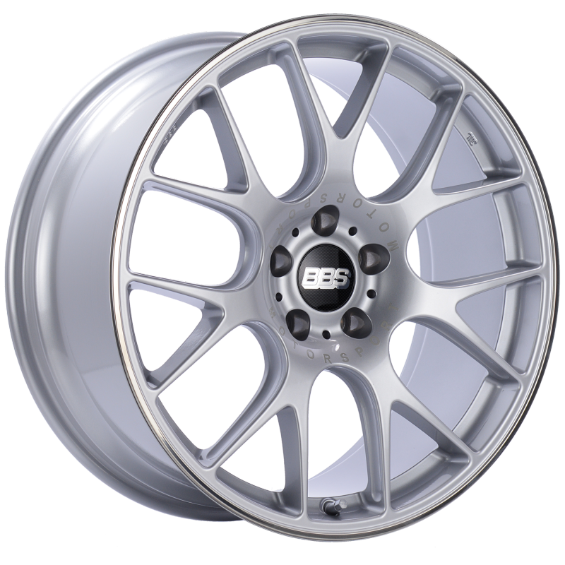 BBS CH-R 20x9 5x115 ET24 Diamond Silver Polished Rim Protector Wheel -82mm PFS/Clip Required