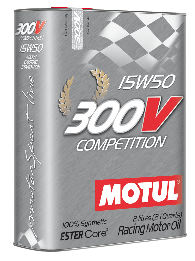 Motul 2L Synthetic-ester Racing Oil 300V COMPETITION 15W50