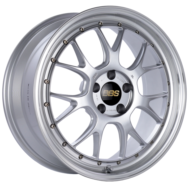 BBS LM-R 19x8.5 5x112 ET38 Diamond Silver Center Diamond Cut Lip Wheel -82mm PFS/Clip Required
