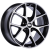BBS SR 19x8.5 5x112 ET32 Satin Black Diamond Cut Face Wheel -82mm PFS/Clip Required