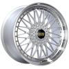 BBS RS 20x9.5 5x120 ET40 Silver Center Diamond Cut Lip Wheel -82mm PFS/Clip Required