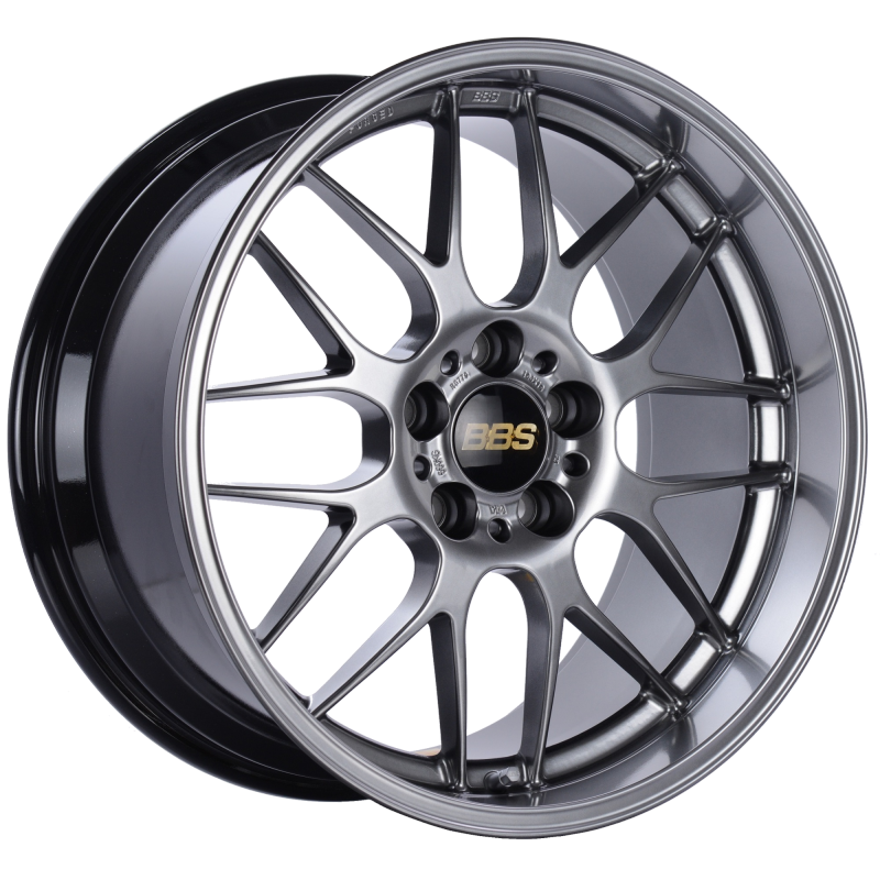 BBS RG-R 19x9.5 5x114.3 ET22 Diamond Black Wheel -82mm PFS/Clip Required