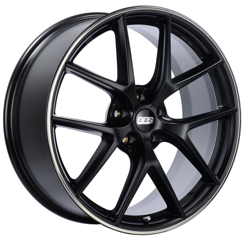 BBS CI-R 20x8.5 5x114.3 ET40 Satin Black Polished Rim Protector Wheel -82mm PFS/Clip Required