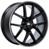 BBS CI-R 20x8.5 5x112 ET42 Satin Black Polished Rim Protector Wheel -82mm PFS/Clip Required
