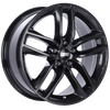 BBS SX 17x7.5 5x114.3 ET42 Crystal Black Wheel -82mm PFS/Clip Required