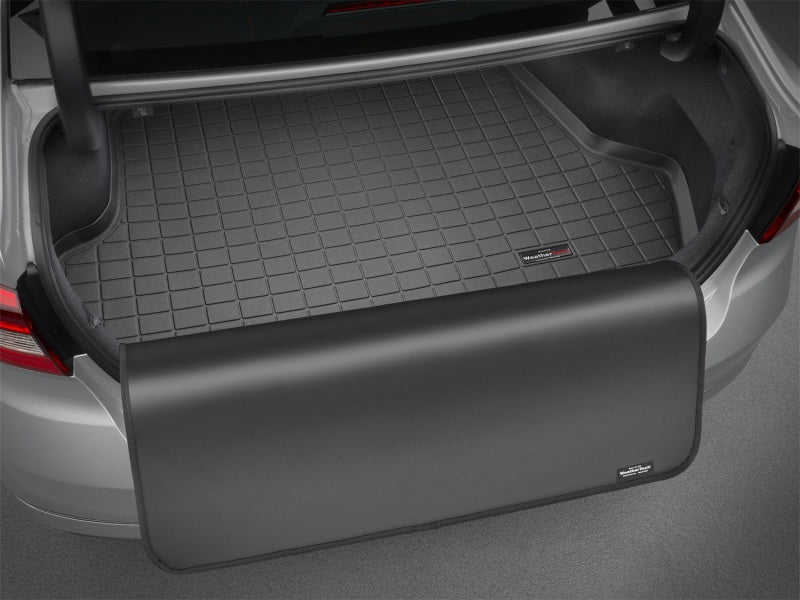 WeatherTech 05-14 Ford Mustang (w/o Shaker Pro Audio) Cargo Liner w/ Bumper Protector - Black