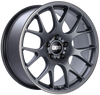 BBS CH-R 19x9.5 5x120 ET35 Satin Titanium Polished Rim Protector Wheel -82mm PFS/Clip Required