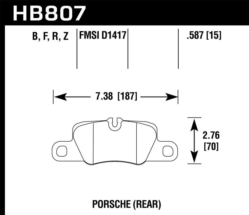 Hawk 2014 Porsche 911 HPS 5.0 Rear Brake Pads