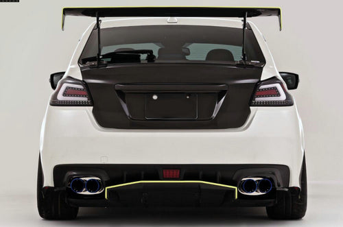 14-18 onwards WRX STI S4 VAB VAF VRSA1 Style rear bumper side splitter fin