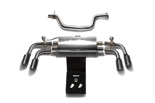 ARMYTRIX Stainless Steel Valvetronic Catback Exhaust System Quad Carbon Tips Audi TT MK2 8J 07-14
