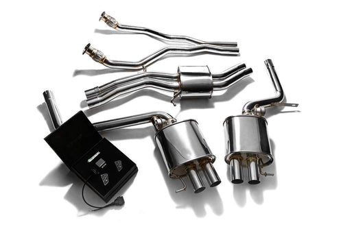 ARMYTRIX Stainless Steel Valvetronic Catback Exhaust System with Wireless Remote Audi RS4 B8 4.2 V8 13-15